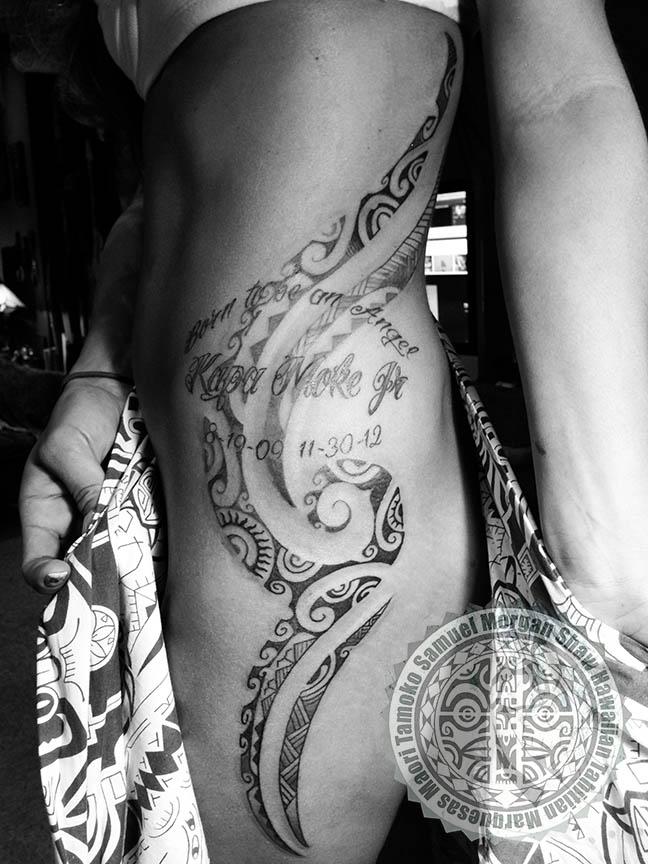 Tahitian Memorial Tattoo Polynesian And Custom Tattooing By Samuel Shaw